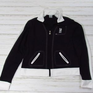 Nike Retro Black and White Zip Front Jacket XL